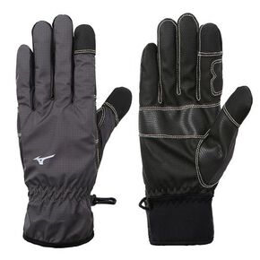Water repellent rail gloves [Unisex], Charcoal Gray