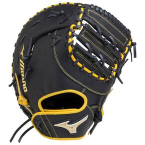 For softball Element Fushion UMiX【For catcher and first baseman】, Black x Natural