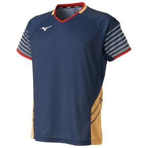Game shirt (Hitachi IT Communication Engineering Wearing Model/Racquet Sports) [Unisex], Dress Navy × Gold