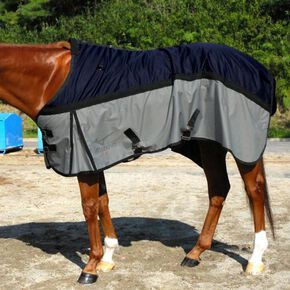 BREATH THERMO Heavy weight rug 600D(horse riding), Navy × Silver