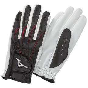 Gloves golf type (sheepskin leather/both hands)(Park Golf)[mens], Black
