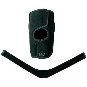 Knee support for mountaineering (front opening type/1 piece), Black