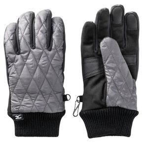 BREATH THERMO quilted gloves [mens], Gray