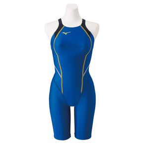 Half spats for competitive swimming (race open back)[ladies], Blue
