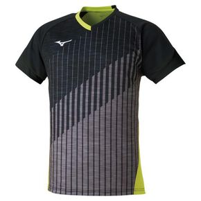 Game shirt (racquet sports) [Unisex], Black x Lime