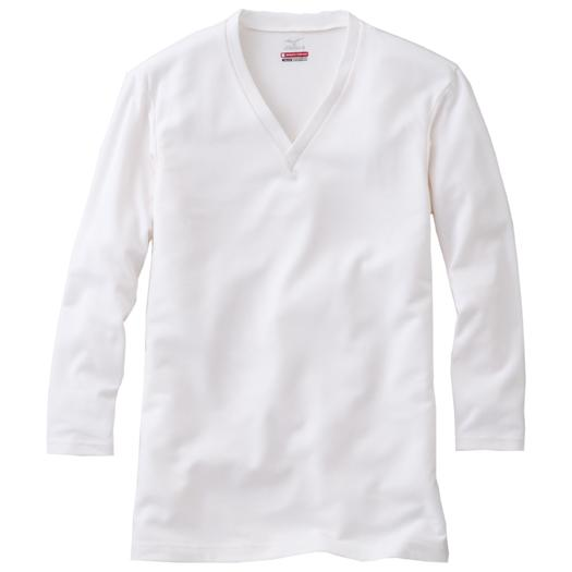 【BREATH THERMO EVERY】V-neck long sleeve shirt (large size)[mens],